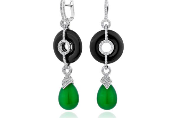 BO agate vert et onyx noir